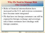 why fis need to manage risk why foreign fis
