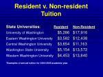 resident v non resident tuition