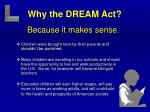 why the dream act
