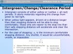 intergreen change clearance period