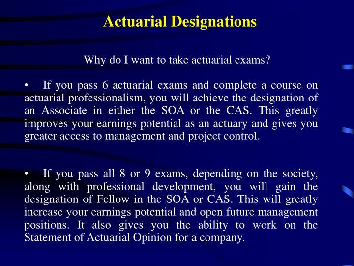 Actuarial Designations