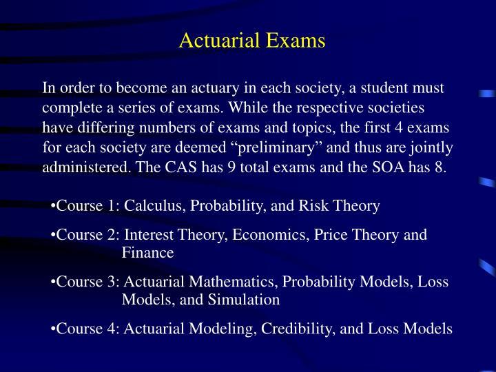 Actuarial Exams
