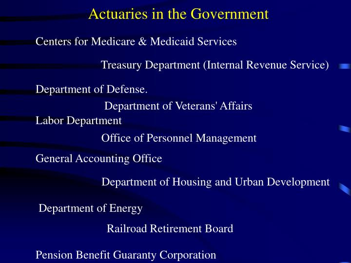 Actuaries in the Government