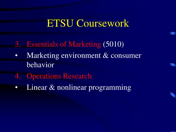 ETSU Coursework