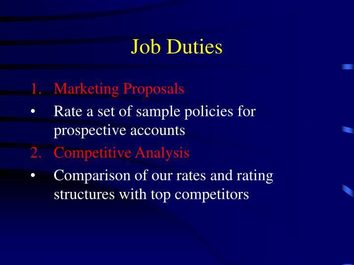 Job Duties
