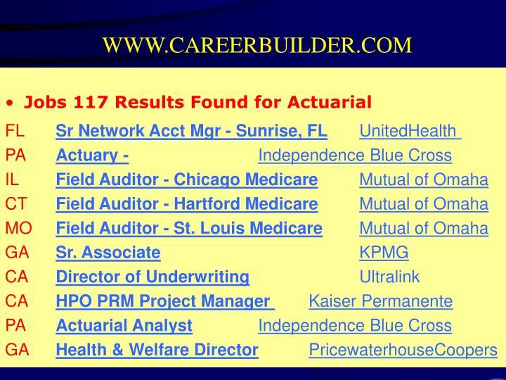 WWW.CAREERBUILDER.COM