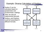 example diverse calculation of position