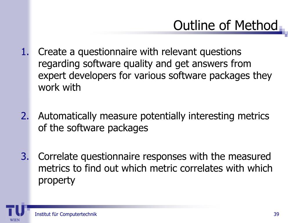 Outline of Method