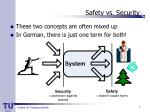 safety vs security
