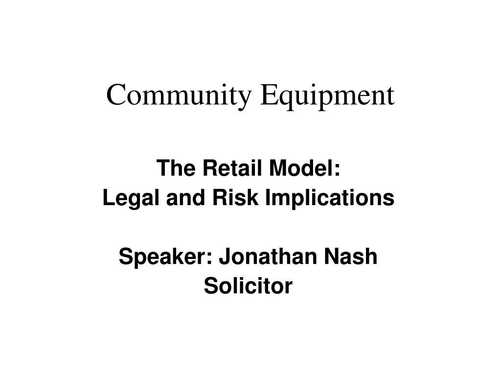 community equipment