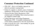 consumer protection continued