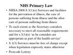 nhs primary law
