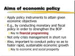 aims of economic policy