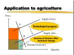 application to agriculture12