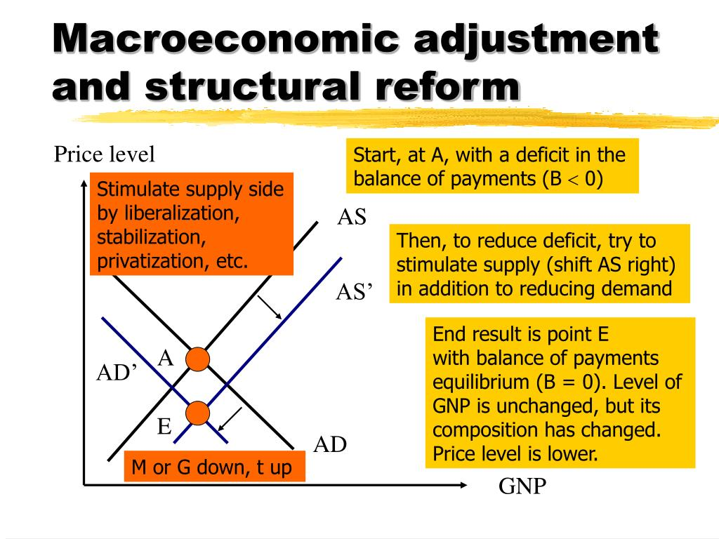 Macroeconomic adjustment and structural reform