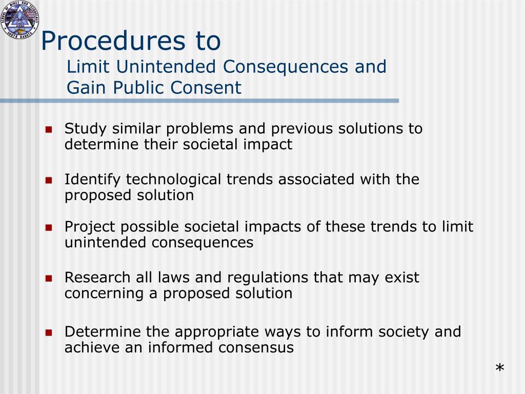 Procedures to