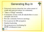 generating buy in