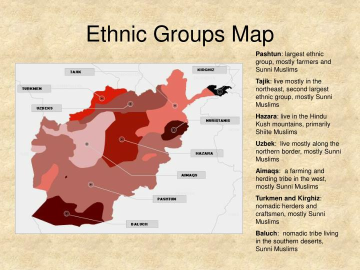 Ethnic Groups Map