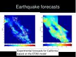earthquake forecasts
