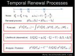 temporal renewal processes