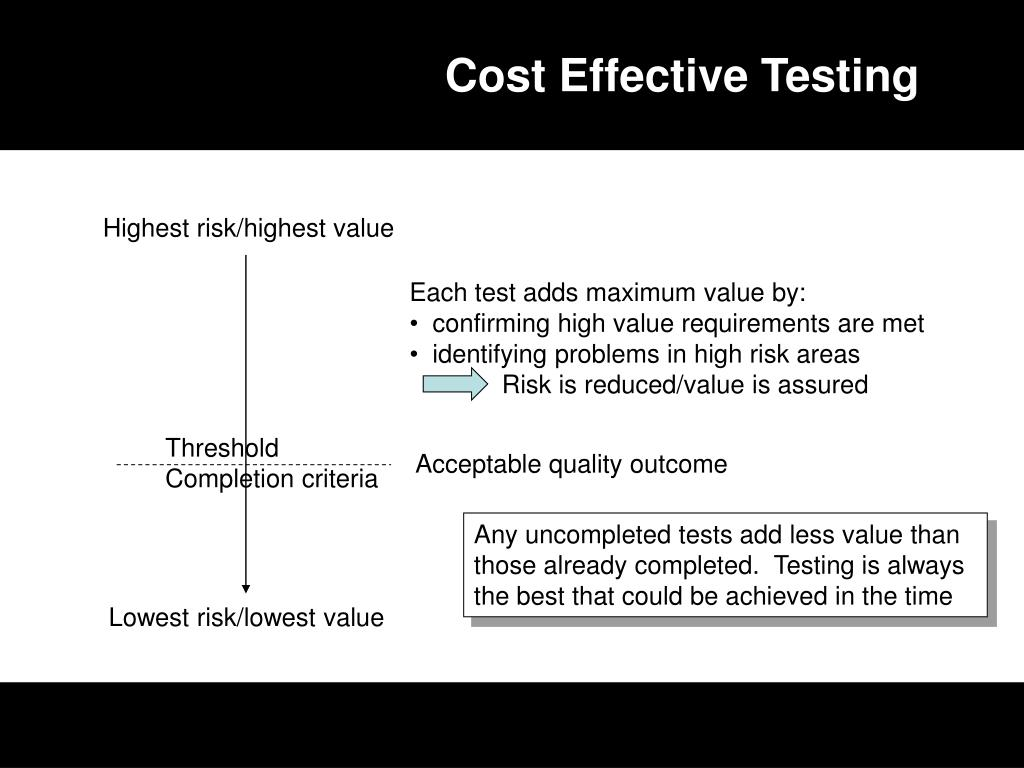 Cost Effective Testing