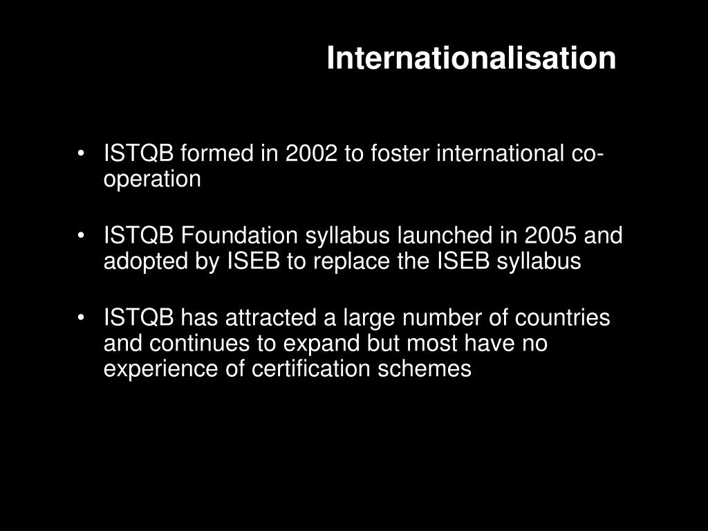 Internationalisation