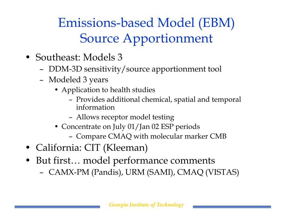 Emissions-based Model (EBM)