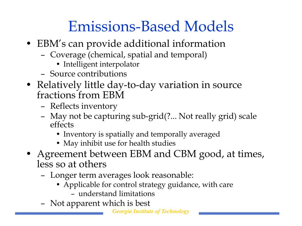 Emissions-Based Models