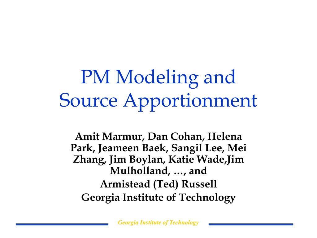 PM Modeling and