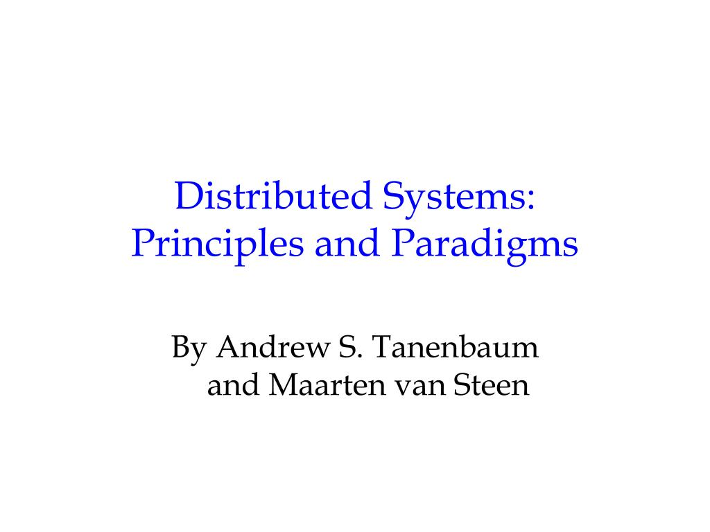 Distributed Systems: