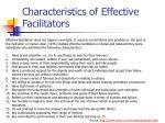 characteristics of effective facilitators