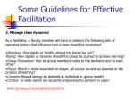 some guidelines for effective facilitation31