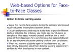 web based options for face to face classes43