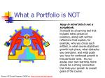 what a portfolio is not