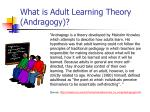 what is adult learning theory andragogy