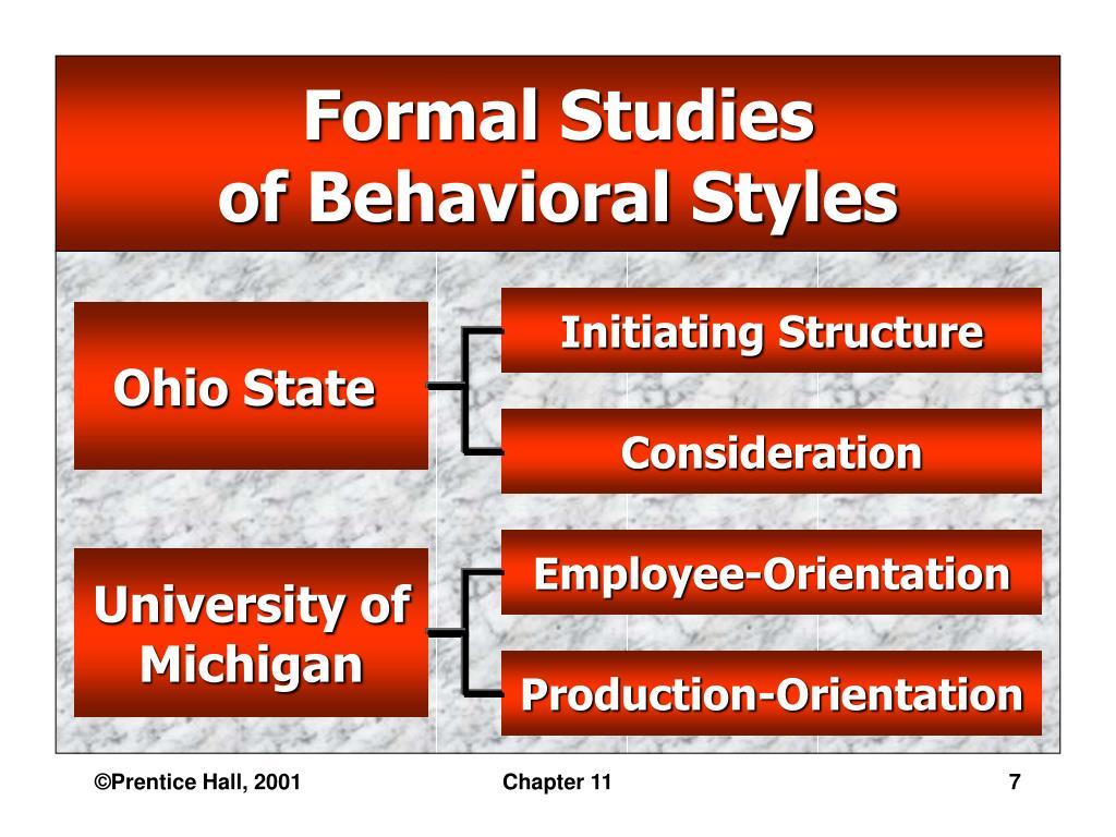 Formal Studies