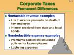 corporate taxes permanent differences16
