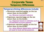 corporate taxes temporary differences18