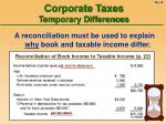 corporate taxes temporary differences19