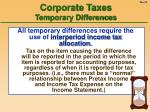 corporate taxes temporary differences20