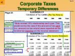 corporate taxes temporary differences21