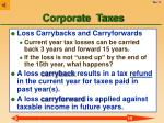 corporate taxes11