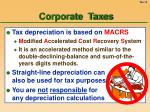 corporate taxes13