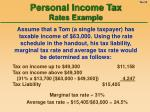 personal income tax rates example
