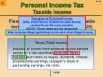 personal income tax taxable income