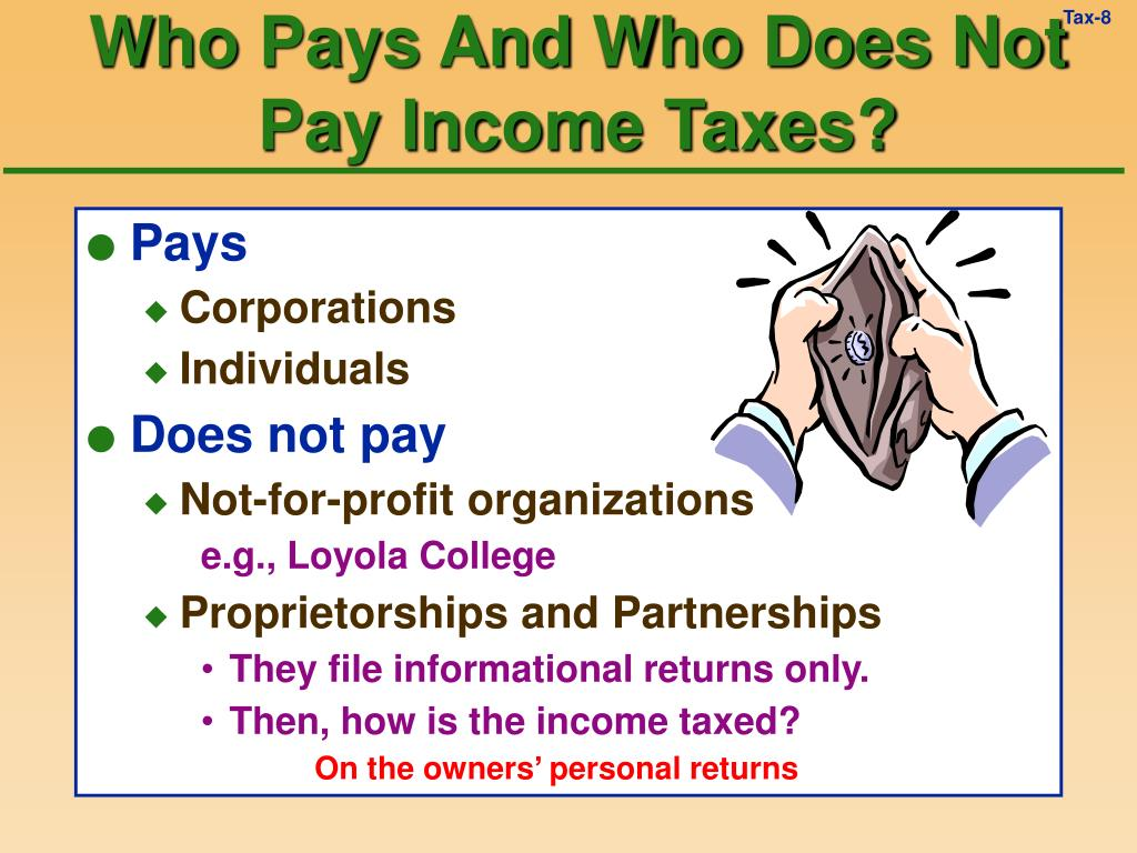 Who Pays And Who Does Not Pay Income Taxes?