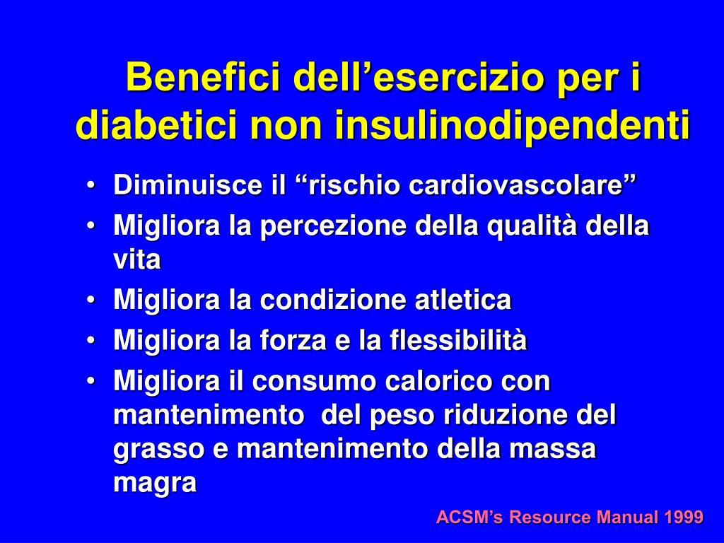 Benefici dell'esercizio per i diabetici non insulinodipendenti