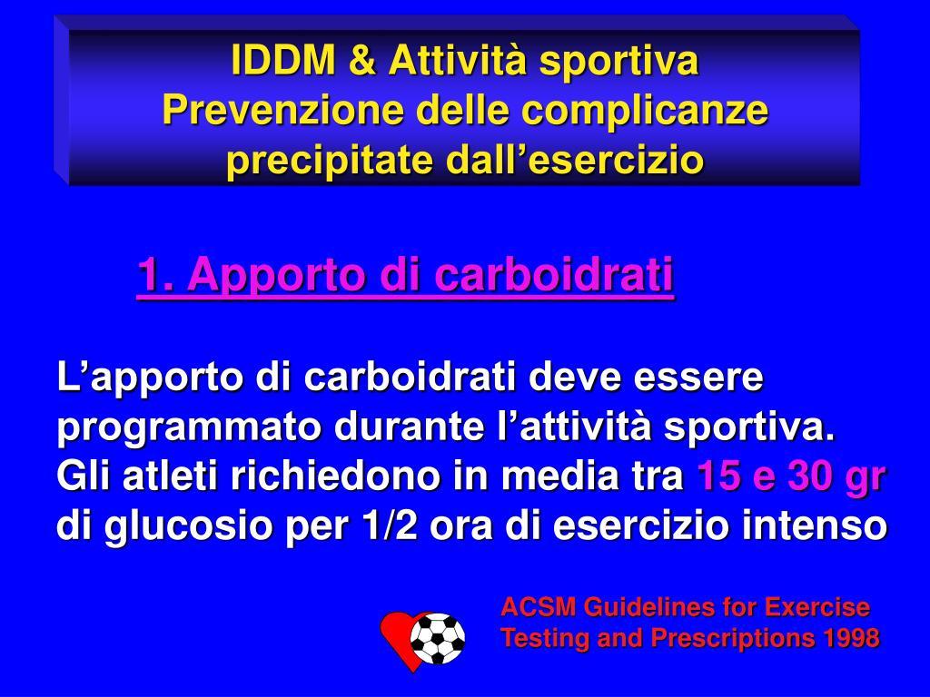 IDDM & Attività sportiva