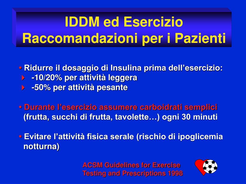 IDDM ed Esercizio
