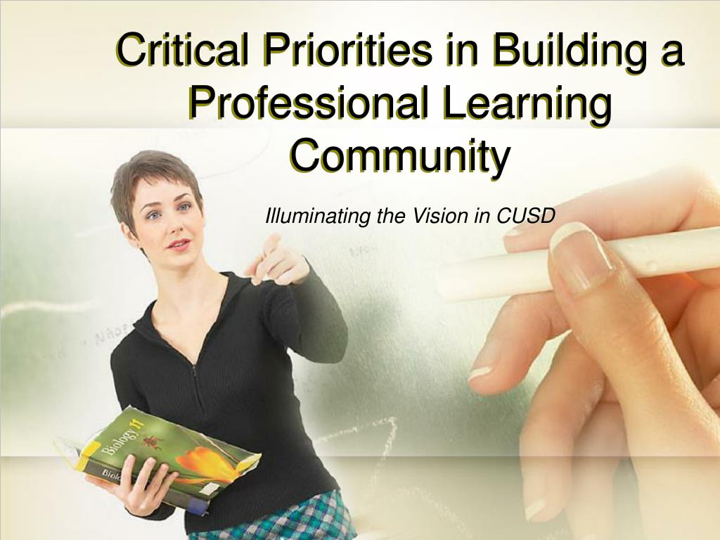 critical priorities in building a professional learning community